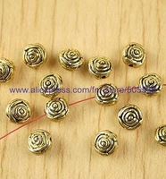 free shipping 156 pcs/lot,wholesale fashion beads antique  gold beads alloy beads jewelry accessories