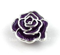 FREE SHIPPING 30PCS Dark purple Metalized Plastic rose Shoe Flower #20487