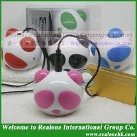 Free Shipping Loudspeaker Wholesale mini speaker for mp4 player,Mini portable speaker stereo music box computer Pink speaker box