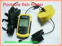 Portable Sonar LCD Fish depth Finder, Alarm 100M AP,fishing iure,ice fishing finder with retail color package Free Shipping