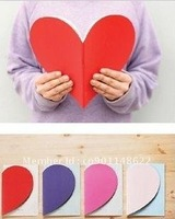 Free shipping!Wholesale,New Creative Cute Heart Note Diary Notebook/Notepad/Planner/Paper Notebook/Writing Pads-4colors