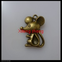 Free shipping 120 pcs/lot 24x18 mm Mickey Mouse shape zinc alloy pendants charms wholesale