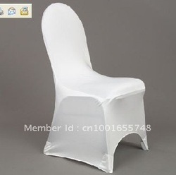 free shipping white spandex/lycra chair cover/white spandex chair cover(China (Mainland))
