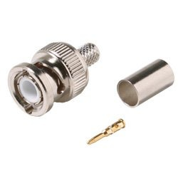 BNC male crimp plug for RG59 coaxial cable BNC Connector BNC male 3-piece crimp connector plugs RG59