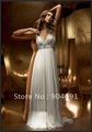2012 New Sleeveless V Neck A-line Beaded White Chiffon Maternity Wedding Dress Pregnant Bridal Wedding Gown ZIpper Back MN88