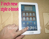 5pcs/lot e-book,ebook 7 inch 4GB ebook reader ereader free shipping