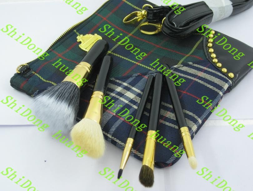 Brand makeup brush 5 pieces 3 colors choose Professional brushes. 1 pcs. free shipping! lowest price!(China (Mainland))