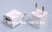 EU USB Wall Travel Charger Adapter Phone Player Nano MP3 &Free shipping