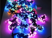 String Lights Led Christmas lights BALL STRING Blue+Pink STRING lights 100leds/10m High Quality