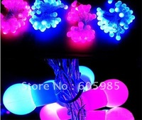Wholesale - String Lights Led Christmas lights BALL STRING Blue+Pink STRING lights 100leds/10m High Quality Fast Post