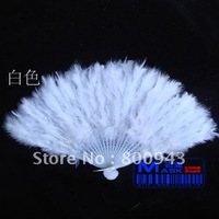 Chinese feather hand fans (28 root handles)