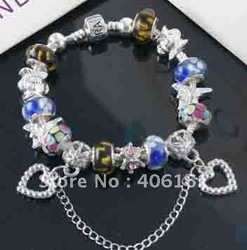 wholesale price free shipping.bracelet.beaded bracelet.beaded jewelry.charm bracelet.hot bracelet.925 sterling silver A21(China (Mainland))