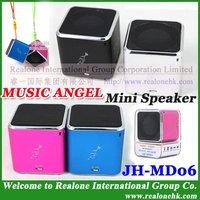 Free Shipping Blue Speaker Pink portable speaker MUSIC ANGEL lovely speaker as gift for couples