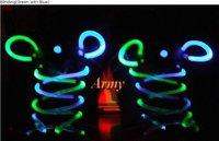 100pcs/lot LED LIGHT UP SHOELACES DISCO FLASH LITE GLOW STICK NEON