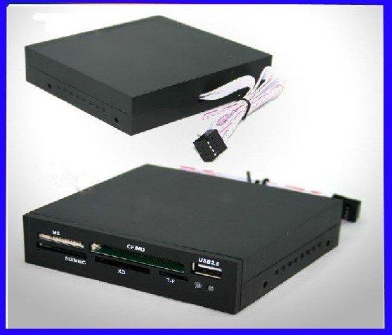 Free shipping! 10pcs/lot Internal all in 1 Desktop PC Memory Card Reader USB HUB(China (Mainland))