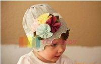 2014  new baby hat  Baby hats girls' hat boy's hat headband fashion caps flower beanie caps  0704 #  50pcs