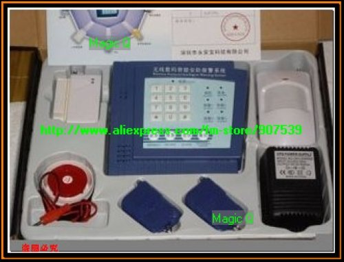 Free Shipping,Security Alarm System, 4 defense zone(4 defnese area)(China (Mainland))