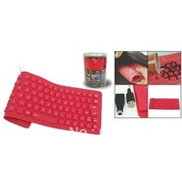 New Style Keyboard USB Wireless Flexible Roll-Up Silicone FR 2.4GHz 127 Keys High Quality Fast Post 10 PCS