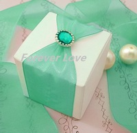 FREE SHIPPING-AQUA BLUE 50PCS 2011 NEW arrival brads for scrapbooking Wedding Stationary Favor Box DIY Craft