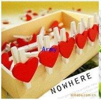 5000pcs/lot wooden cartoon love clip