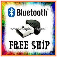 Wholesale USB2.0 Mini Bluetooth Adapter Smallest USB Bluetooth V2.0 Wireless Bluetooth Dongle 50pcs/lot EMS Free shipping