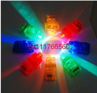 200pcs/lot 4x Color LED Bright Finger Ring Lights Rave Glow Party