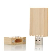 100PCS/lot  wooden USB flash key with printed or engraved logo available