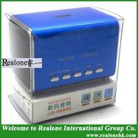 Free Shipping Blue Mini Speaker Portable MUSIC ANGEL lovely speaker original JH-MD05B
