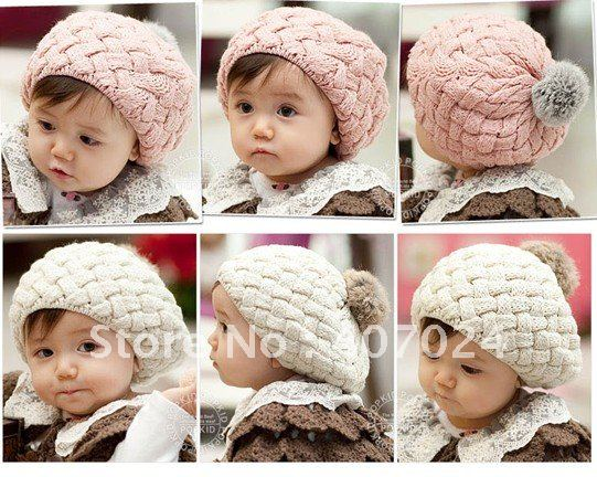 baby cap baby beanie hat toddler cap with feather ball clip baby wearing BCP0051 free shipping(China (Mainland))