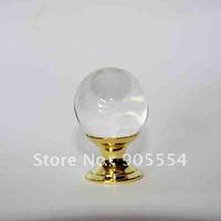 D25xH37mm Free shipping glossy crystal glass ball furniture drawer knob