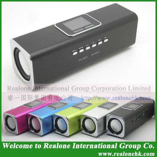 Black Speaker Free Shipping MUSIC ANGEL speaker manufacturer original cool quality JH-MAUK5 stereo sound box portable speaker(China (Mainland))
