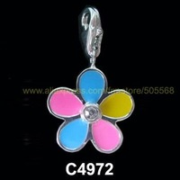 free shipping 200 pcs/lot,wholesale fashion lovely flower charms enamel charms alloy charms pendant best accessories