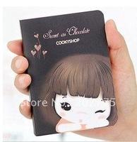 creative cute notebook/cute girl/notebook portable/best gifts/10 pieces per lot