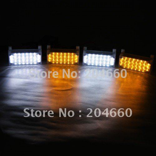 lot 4x22 led 88 led car strobe light kit 4 x 22 led car. Black Bedroom Furniture Sets. Home Design Ideas