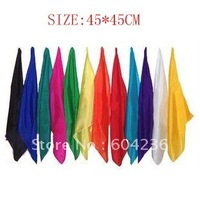 Magic silk Magic Trick 10pcs/lot 17.7 inches square real silk for magic prop wholesale