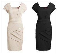 Новые платья женщин дамы очаровательные платья тонкий ретро кружева вышивки с длинным рукавом рубашка сексуальное платье