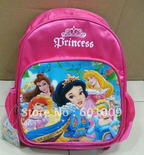 Grátis frete Nylon de alta qualidade princesa mochila escolar criança Bag atacado e varejo(China (Mainland))