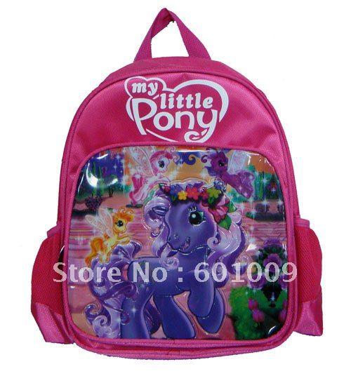 Grátis frete Nylon de alta qualidade Pony mochila escolar criança Bag atacado e varejo(China (Mainland))