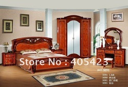 bedroom set(bed + night stand+dressing table+dressing chair+four door wardrobe),JHT-3091(China (Mainland))