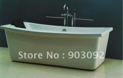 Top selling white rectangular stone tub(China (Mainland))