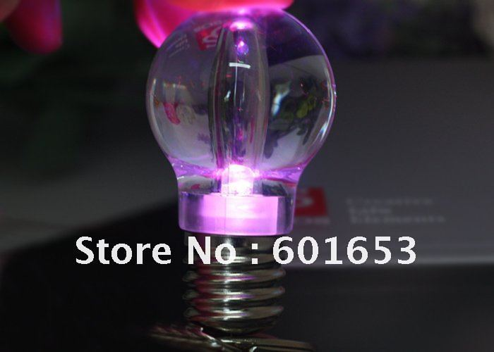 wholesale -free shipping Colorful LED Bulb Keychain LED Light Keychain Led Keychain(China (Mainland))
