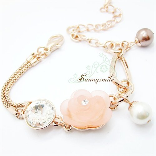 S5009035 Free Shopping Fashion bracelets,18K Gold Plated Flower bracelet jewelry w/ Rhinestone + MOQ 1pc(China (Mainland))