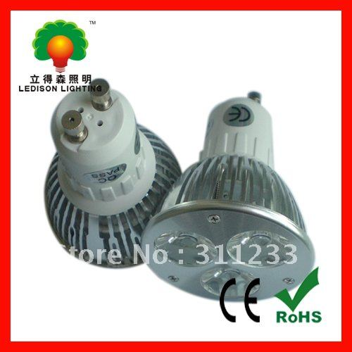 Dimmable Aluminum alloy 3*2W LED spot light home light with CE RoHS SAA approval(China (Mainland))