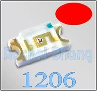 1000pcs*1206 Ultra Bright SMD, Red LEDs,freeshipping