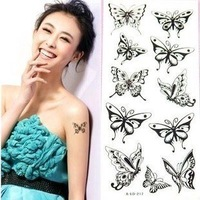 Hot sale Fashion Waterproof Body Temporary Tattoo Sticker Mixed style offering 50pcs/lot