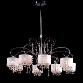 Contemporary Crystal Chandelier with 8 Lamp Shade(China (Mainland))