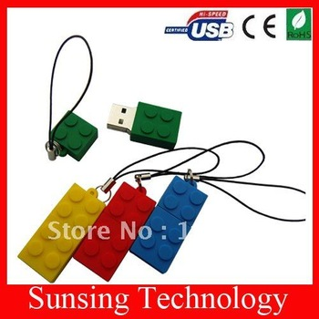 Wholesales 100% guaranttee!!! Toy brick/ Mini brick usb flash drive