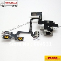 Hot sales repair partHeadphone Audio Jack Flex Cable for iPhone 4+Hongkong post