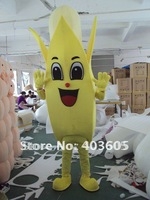 Hot Sale Yellow Banana Mascot Costume ,free shipping,cartoon costume,cospaly
