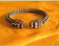 Asian China Superb Jewelry tibetan dragon miao silver bracelet Bangle shipping free